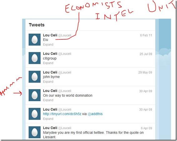Lou Celi twitter acct