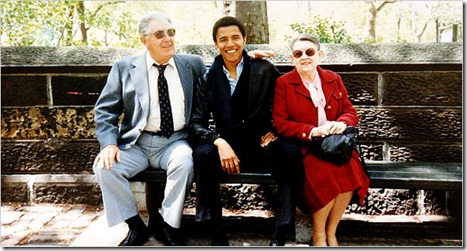 pic of O with grandparents in NYC is odd