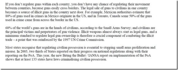 UN wants our legal guns 2005